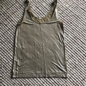 J.Crew molten tank, gold and silver shimmer